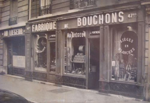 La boutique Au Liegeur de Paris en 1887